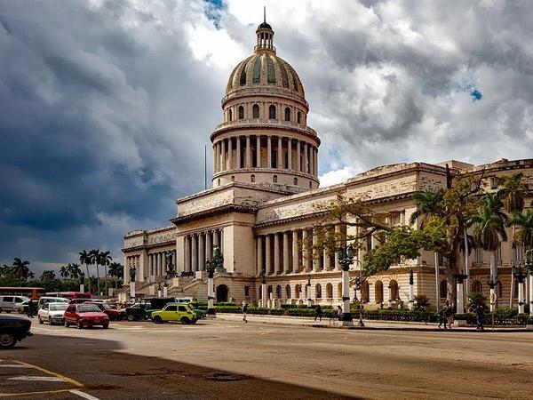 Cuba La Havane, vue sur la capitole