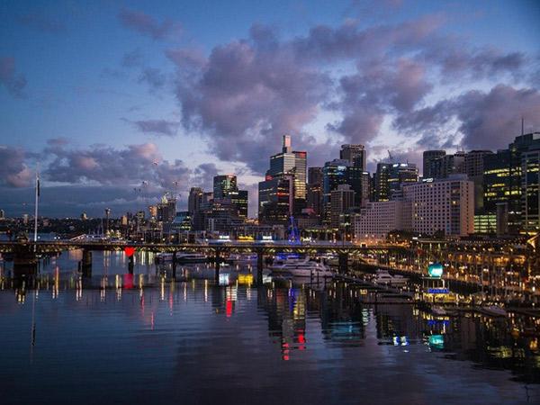 Fin de journée sur le port de Sydney
