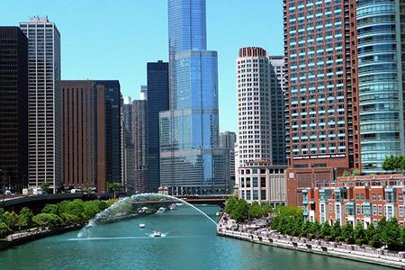 Grands buildings à Chicago