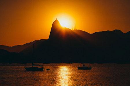 Coucher de soleil à Rio de Janeiro