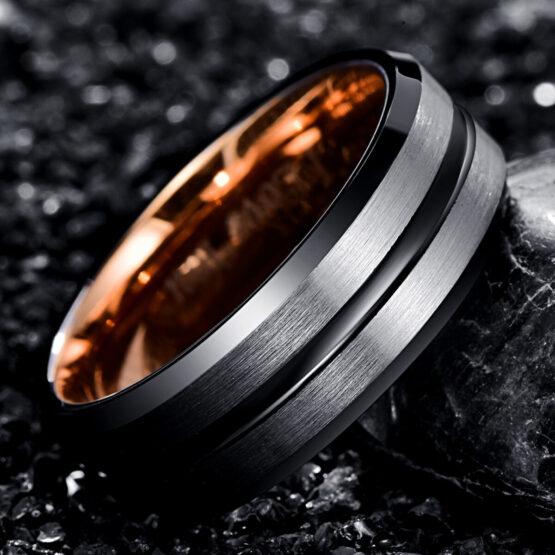 anneau-bague-homme-carbure-de-tungstene-noir-or-thallium-1