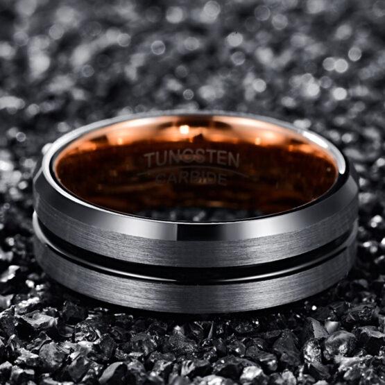 anneau-bague-homme-carbure-de-tungstene-noir-or-thallium-2