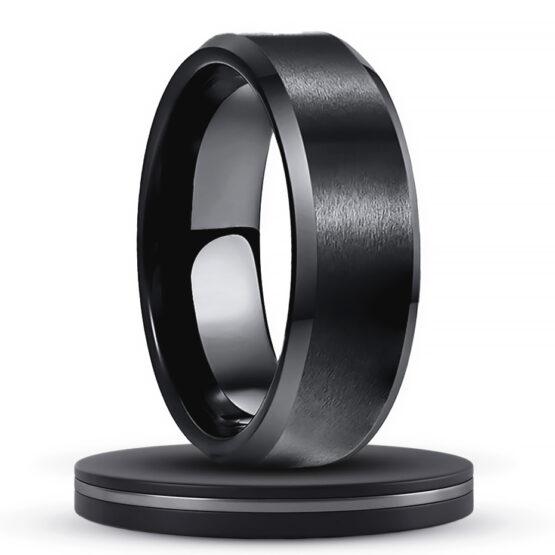 anthracite-bijoux-anneau-8-mm-couleur-noir-carbone-en-carbure-de-tungstene-aspect-brosse-style-unique
