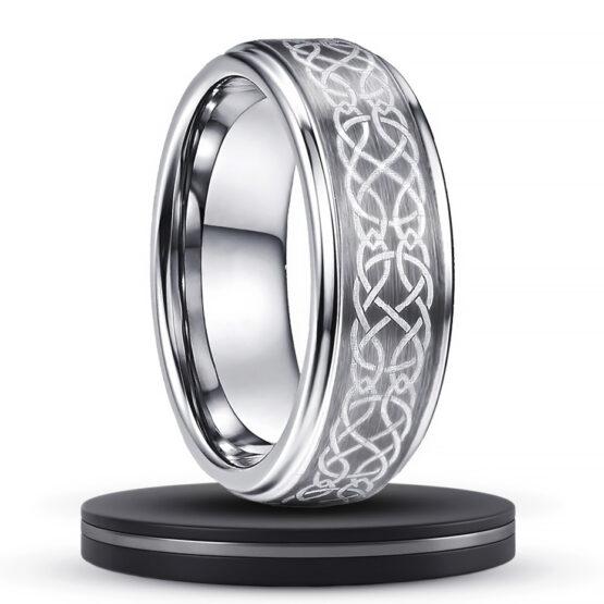 apache-bijoux-anneau-bague-8mm-couleur-titane-argent-gris-en-carbure-de-tungstene-avec-motif-celtique-graves-haute-qualite