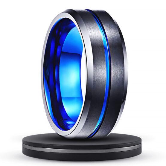 aragonite-bijoux-bague-homme-anneau-noir-et-bleu-en-carbure-de-tungstene-explorateur