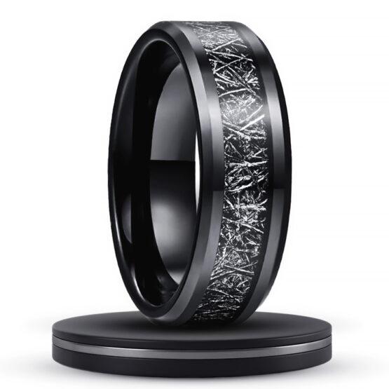 asphalte-bijoux-anneau-noir-titane-carbure-de-tungstene-artiste-fibre-de-carbone