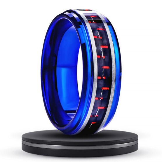 aurore-anneau-homme-azur-bleu-titane-carbure-de-tungstene-rouge-noir-fibre-de-carbone-8mm
