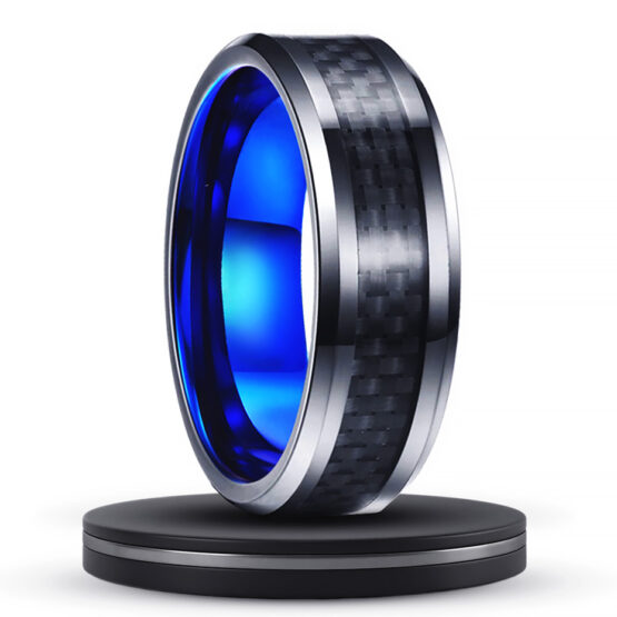 fibrille-anneau-bague-homme-8mm-carbure-de-tungstene-edition-azur-couleur-argent-bleu-fibre-de-carbone