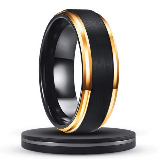 héliodore-anneau-bijoux-noir-et-or-carbure-de-tungstene-carbone-titane-gold