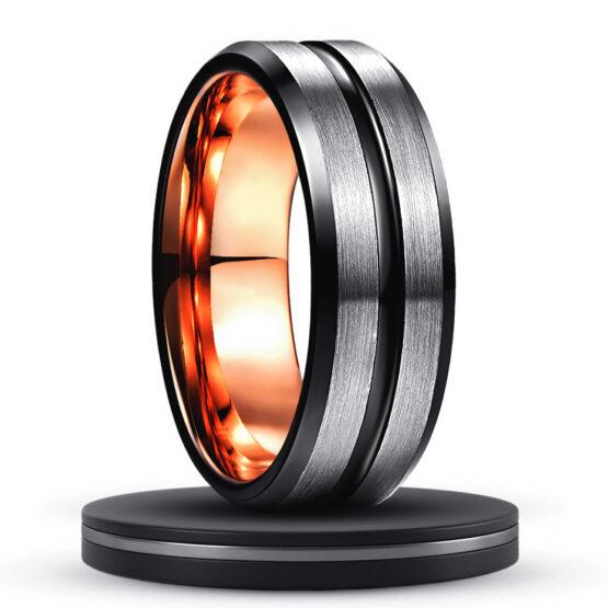 le-thallium-anneau-bague-homme-carbure-de-tungstene-noir-or