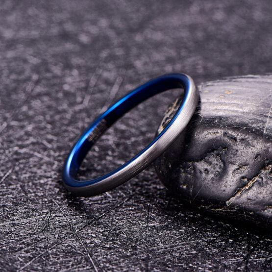 artem-anneau-homme-carbure-de-tungstène-argent-bleu
